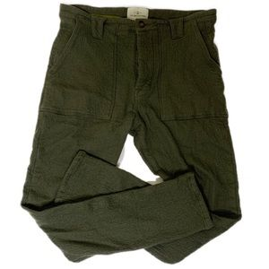 The Lost Explorer Green Wool and Cotton Pants